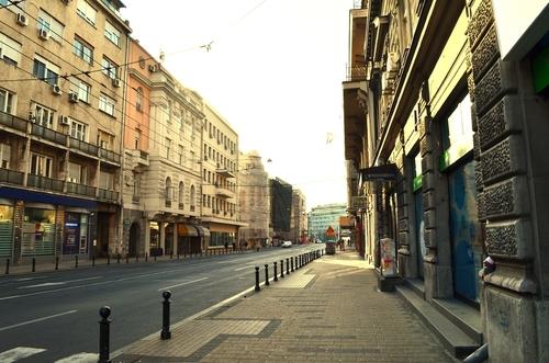 zdjęcie zrobione podczas spaceru o poranku po mieście Belgrad stolicy Serbii