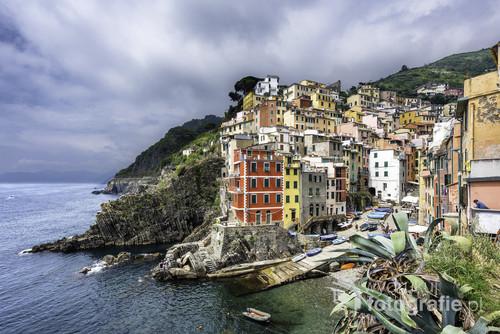 Riomaggiore - Park Narodowy Cinque Terre, Liguria, Włochy
