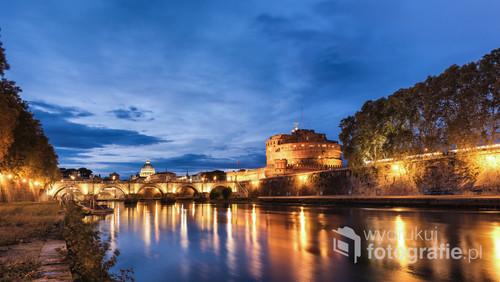 Zamek Świętego Anioła i most św. Anioła - Rzym
