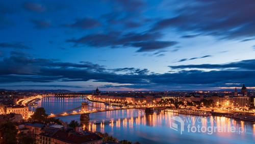 Panorama Budapesztu wykonana z Zamku Królewskiego.