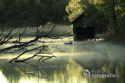 Zdjęcie zrobione nad rzeką Biebrza w Osowcu o świcie.