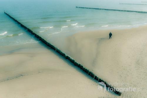 Ustronie Morskie - plaża  Kwiecień 2018