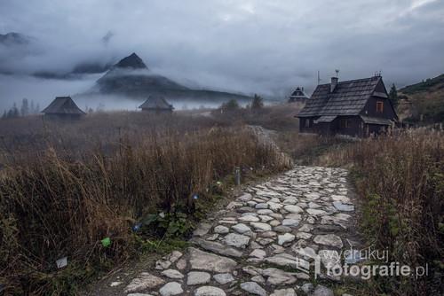 Jesienne klimaty na Hali Gąsienicowej, Tatry.