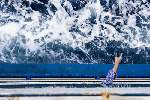 Fotografia wykonana podcas przeprawy promowej z Malty na Gozo