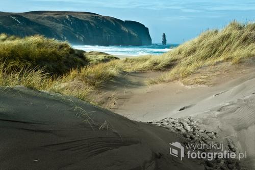 Położona niemal na samym czubku Szkocji magiczna plaża z wydmami.