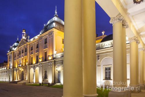 Pałac Branickich w Białymstoku. Fotografia wykonana w październiku 2013 roku.