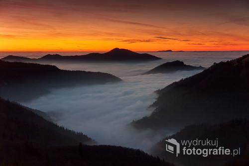 Wielka Fatra, Karpaty słowackie, widok z okolic szczytu Ploska na zachód