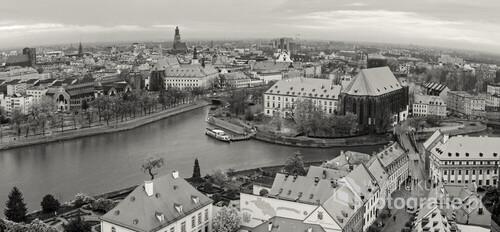 Wrocław w panoramie z wieży katedry
