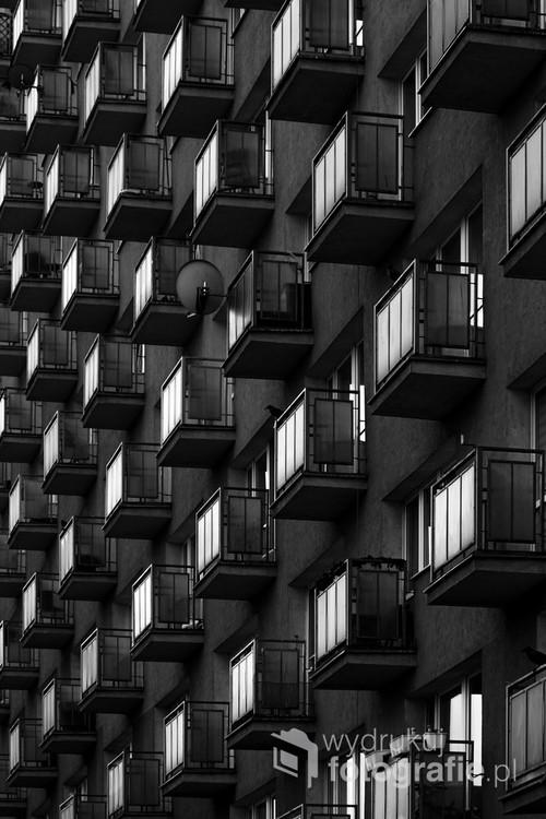 Nagromadzenie balkonów